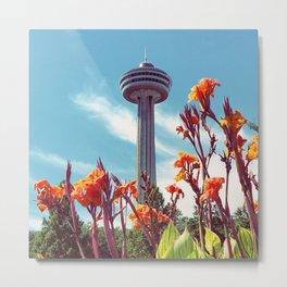 Skylon Tower at Niagara Falls Ontario Metal Print