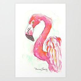 Flamingo Dance Art Print