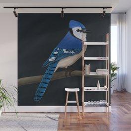 jz.birds Blue Jay Bird Design Wall Mural