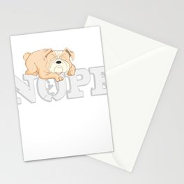 Englischer Bulldogge Nope Lazy Stationery Cards