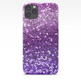 Mermaid Glitters Sparkling Purple Cute Girly Texture iPhone Case