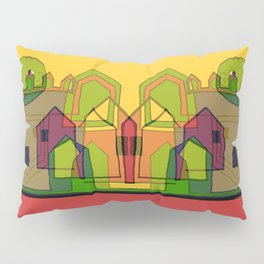 Two Suns Above the Village Pillow Sham
