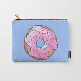 Pink Strawberry Donut Carry-All Pouch