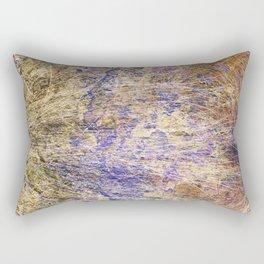 Purple Gold Rectangular Pillow