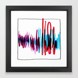 Welcome Home Soundwaves Framed Art Print