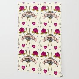 Born To Knit Wallpaper