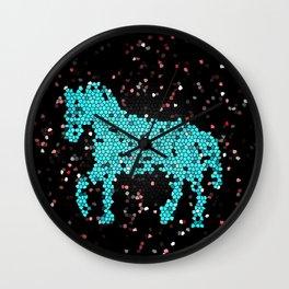 Horse glass Wall Clock