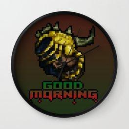 Good Morning - Facehugger - PixelArt Wall Clock