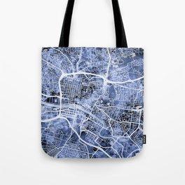 Glasgow Scotland Street Map Tote Bag