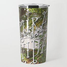 Pura Vida Costa Rica Jungle Life Caribbean Type Travel Mug