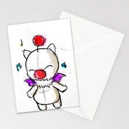 Watercolour Moogle  Stationery Cards