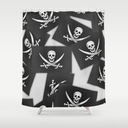 The Jolly Roger of Calico Jack Shower Curtain
