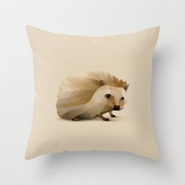 Geometric Hedgehog - Modern Animal Art Throw Pillow