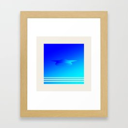 Star Flight Space Carrier - Midnight Navy Blue Turquoise Framed Art Print