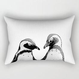two baby penguin friends Rectangular Pillow