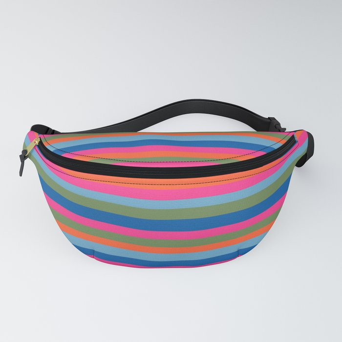 Fall Candy Stripes Fanny Pack