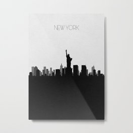 City Skylines: New York City Metal Print