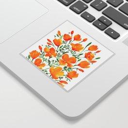 Watercolor California poppies Sticker