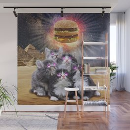 space cats looking for the burger Wall Mural