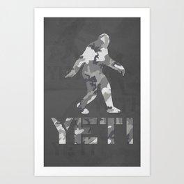 Yeti Urban Camo Art Print