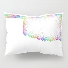 Rainbow Oklahoma map Pillow Sham