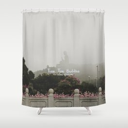 Hong Kong Tian Tan Buddha Shower Curtain