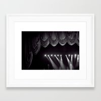 theater Framed Art Prints featuring Theater by Jessica Krzywicki