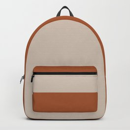 Minimalist Solid Color Block 1 in Putty and Clay Backpack