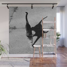 the shadow and her kitty Wall Mural