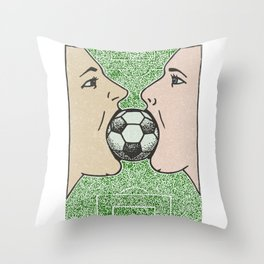 Two girls one World Cup Throw Pillow