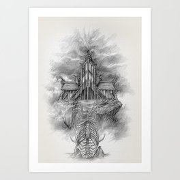 Sovngarde Hall of Valor from Skyrim Art Print