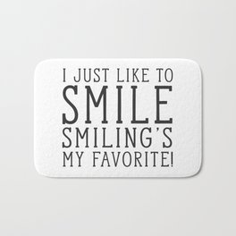 Smiling's My Favorite - Buddy The Elf, Christmas Movie Quote Bath Mat