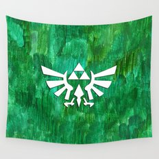 Zelda Triforce Painting Wall Tapestry