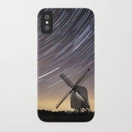 Windmill on a starry night iPhone Case