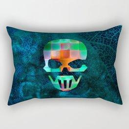CHECKED DESIGN II - SKULL Rectangular Pillow