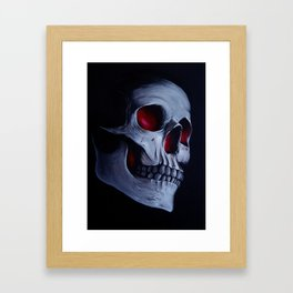 Acrylic Skull Framed Art Print