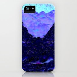 purple mountain and wolf iPhone Case