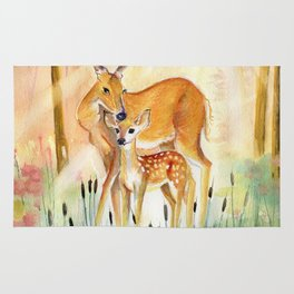 Mom and Little Deer Rug