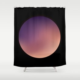 ORB NOIR:1 Shower Curtain