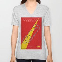 Barcelona Racetrack Unisex V-Neck