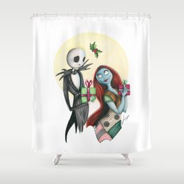Jack and Sally Merry Christmas Shower Curtain