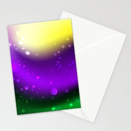 Abstract Mardi Gras Background Stationery Cards