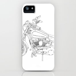 cycle drawing iPhone Case