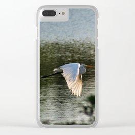 Great Egret in Flight Clear iPhone Case