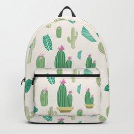 Ivory pastel blush green pink cactus floral Backpack