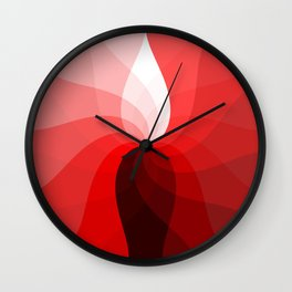 Monochromatic red Wall Clock