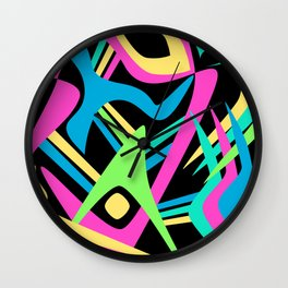 Neon Puff Wall Clock
