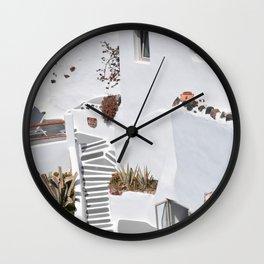 Santorini Architecture, Greece Wall Clock