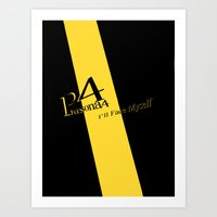 persona 4 Art Prints featuring Persona 4 by Under Construction
