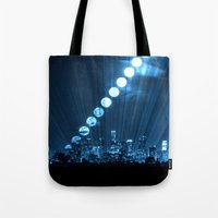 moonrise Tote Bags featuring moonrise  by yahtz designs